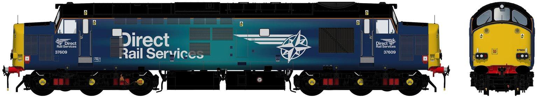 Class 37/6 37609 Revised DRS Compass Diesel Locomotive DCC Sound