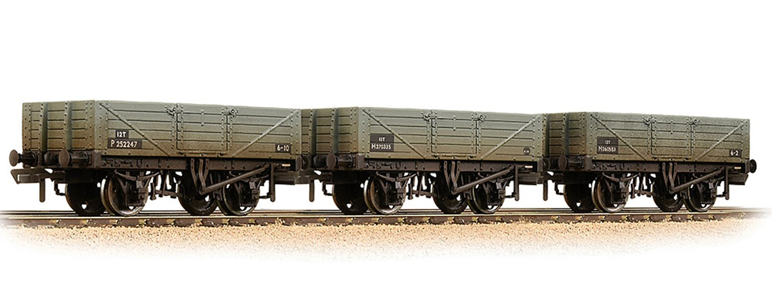 5 Plank 3-Wagon Pack BR Grey (Early) Weathered