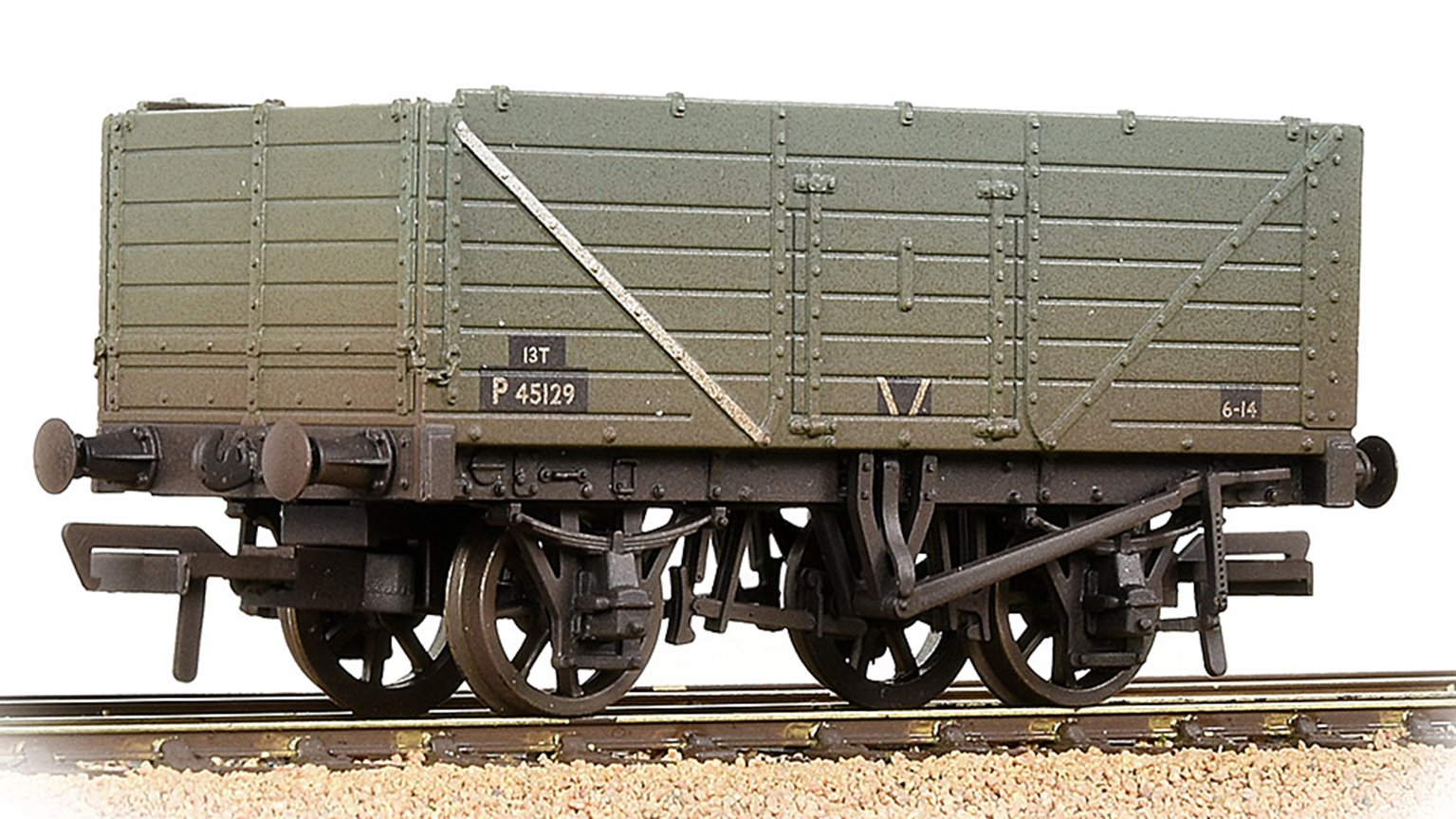 7 Plank Wagon End Door BR Grey (Early) Weathered