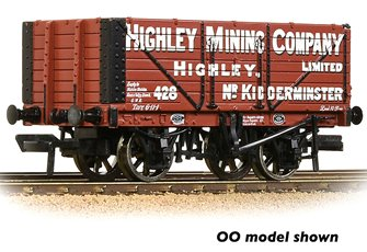 7 Plank Wagon End Door 'Highley Mining Company Ltd.' Red