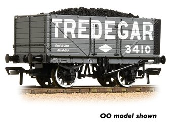 7 Plank Wagon End Door 'Tredegar' Grey with Wagon Load