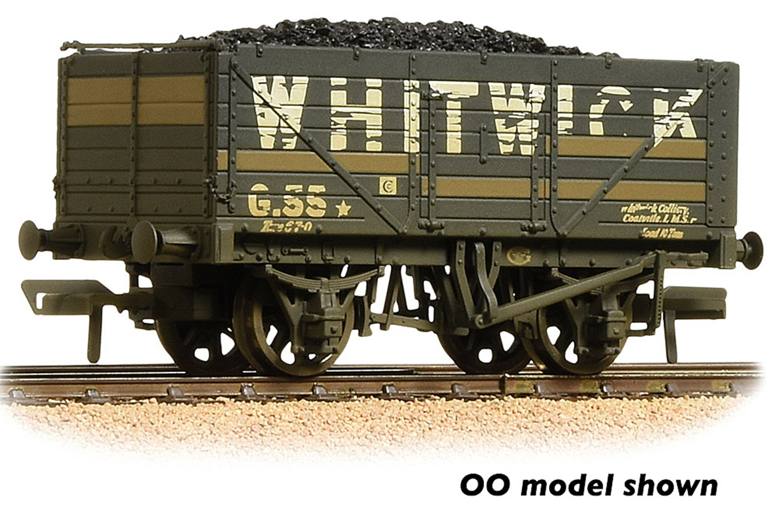 7 Plank Wagon End Door 'Whitwick' Grey with wagon load