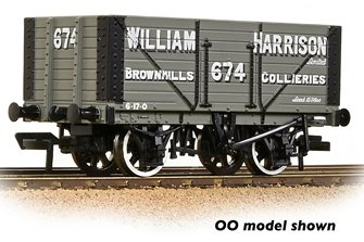 8 Plank Wagon Fixed End 'William Harrison' Grey