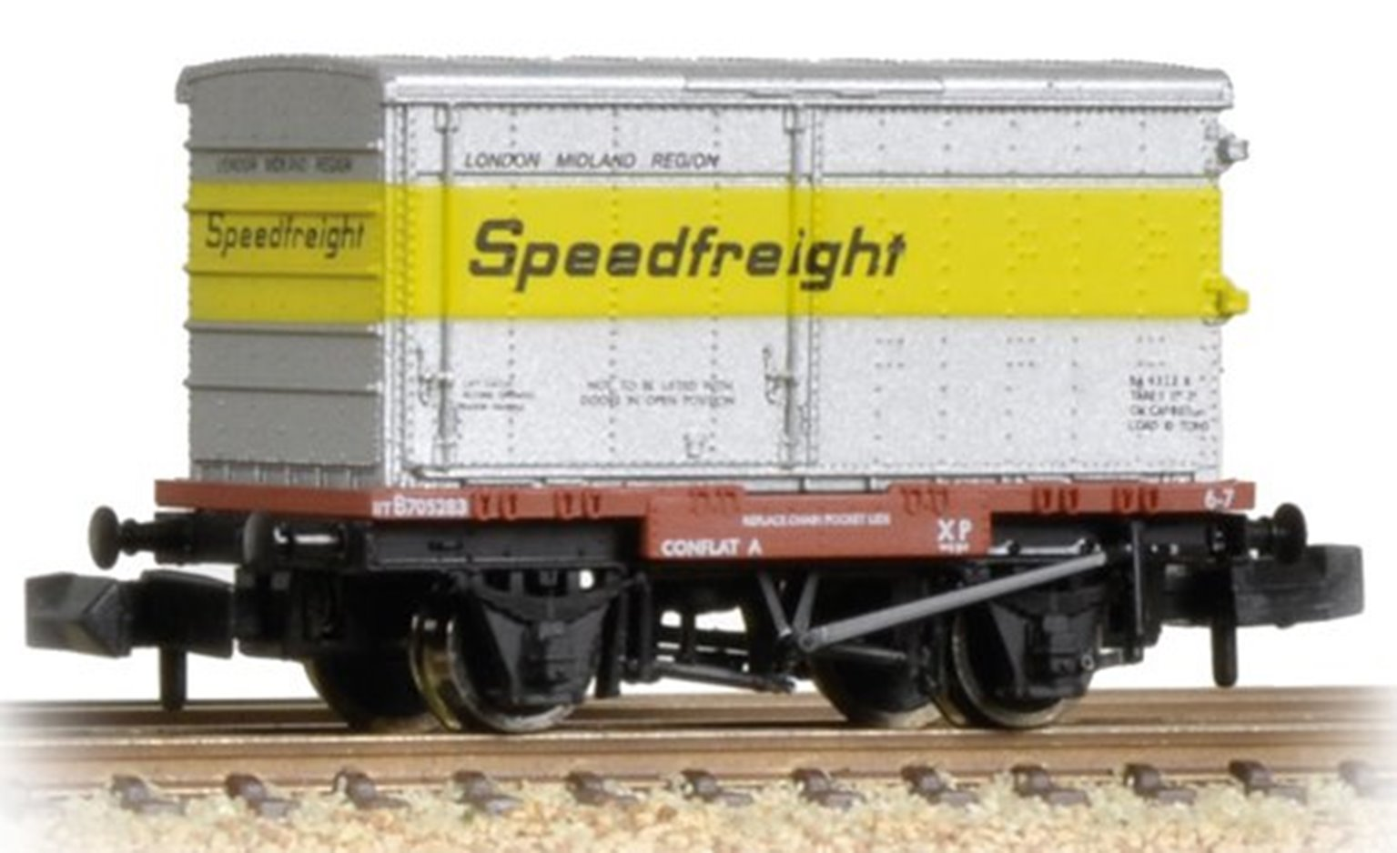 Conflat with Un-Vented Alloy BA Container Speedfreight