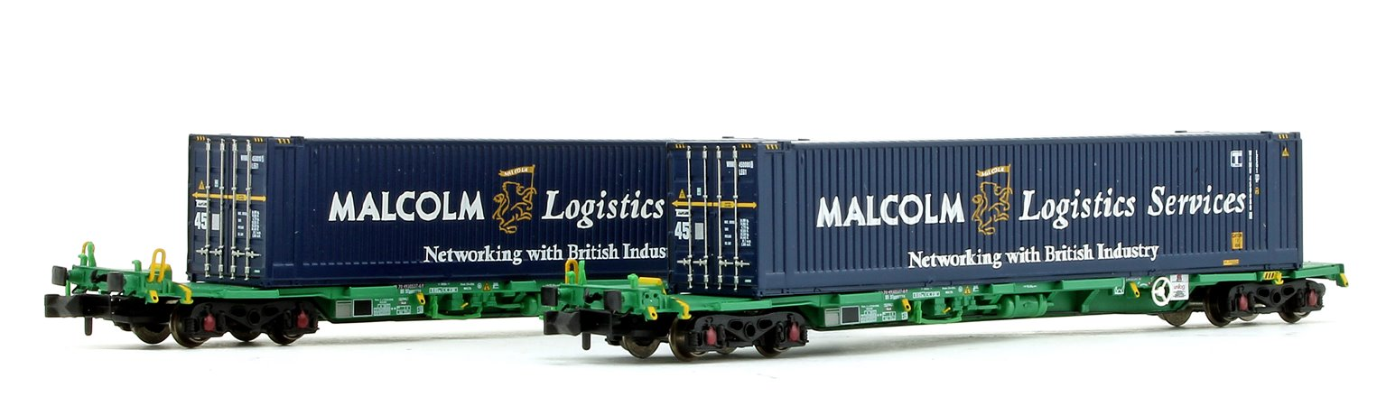 Intermodal Bogie Wagons with 45ft Containers 'Malcolm Logistics'