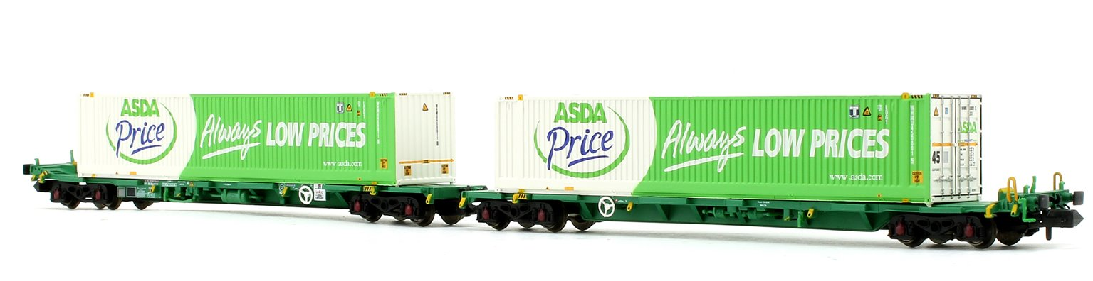 Intermodal Bogie Wagons with 45ft Containers 'ASDA'