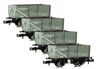 Set of 4 16 Ton Slope Sided Mineral Wagons 'Boston Deep Sea Fishing'