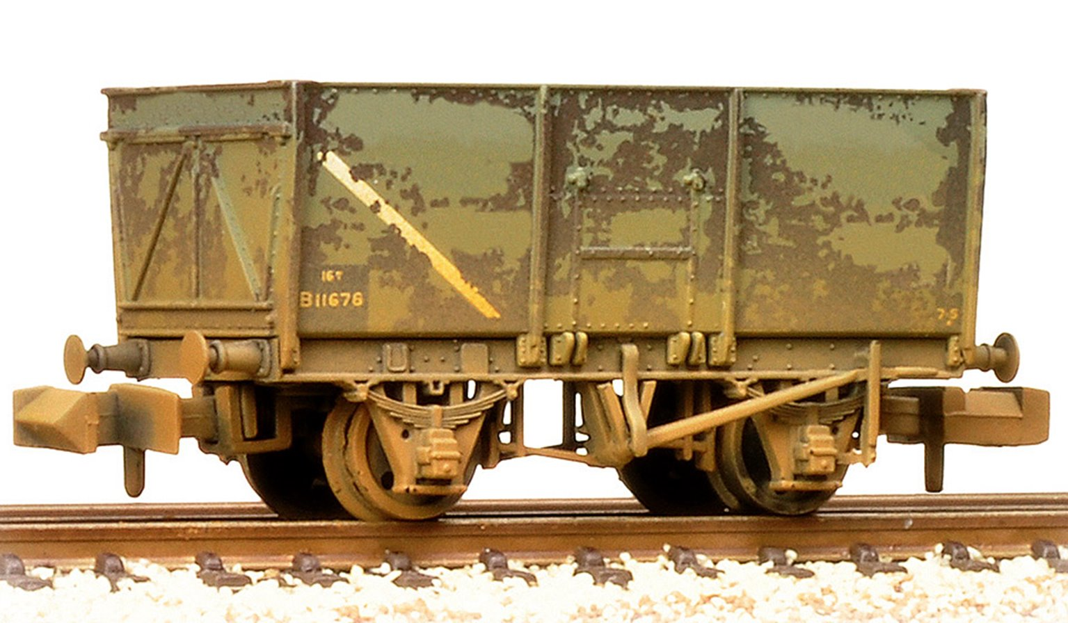 16T Steel Slope-Sided Mineral Wagon BR Grey (Early) Weathered