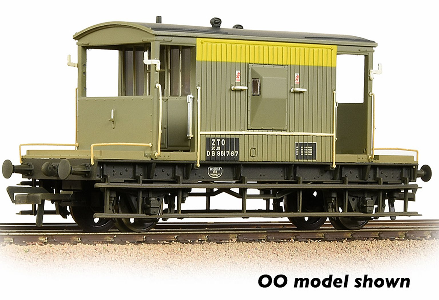 BR 20T Brake Van BR Engineers Grey & Yellow Weathered