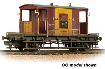 BR 20T Brake Van BR Bauxite (TOPS) 'Air Piped' Weathered