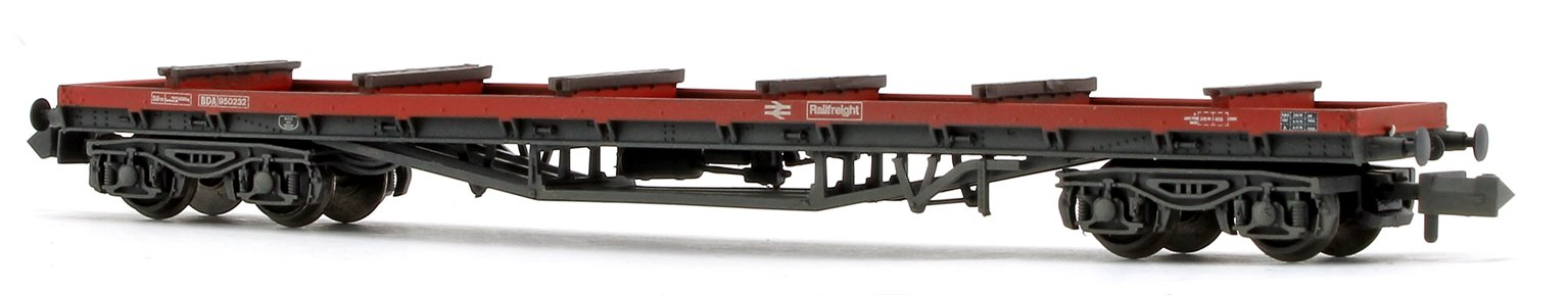 BR Railfreight Red BDA Bogie Bolster Wagon with load (Weathered)