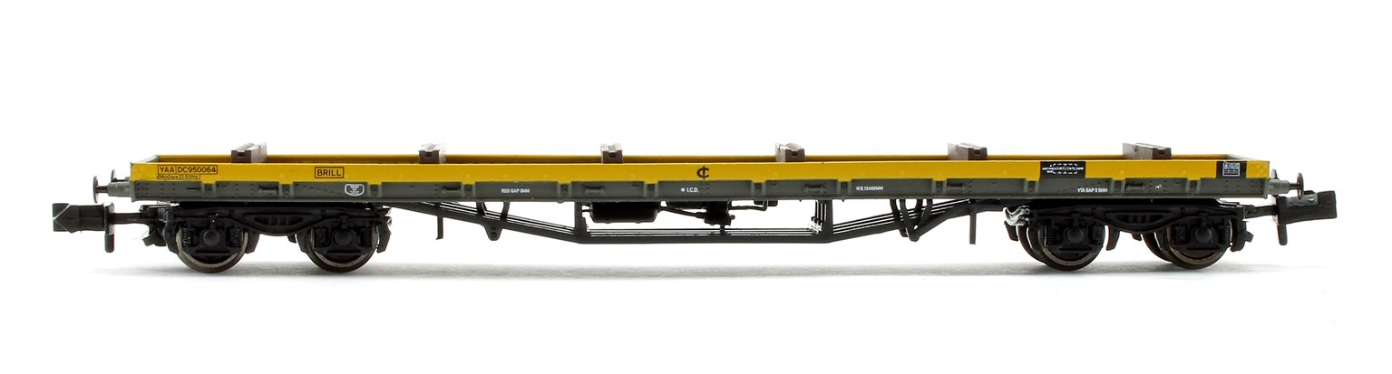 80 Tonne glw BDA Bogie Bolster Wagon Departmental Yellow with Load