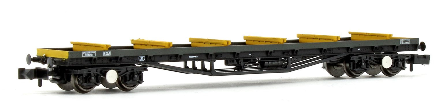 BR Railfreight Distribution BDA Bogie Bolster Wagon in Metals Sector with Load