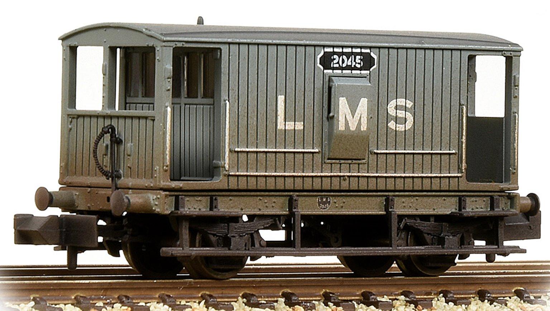 MR 20T Brake Van With Duckets LMS Grey Weathered