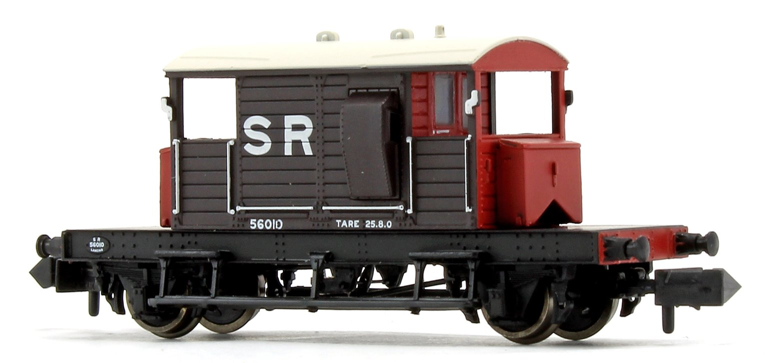 SR 25 Ton 'Pill Box' Brake Van SR Brown White Roof