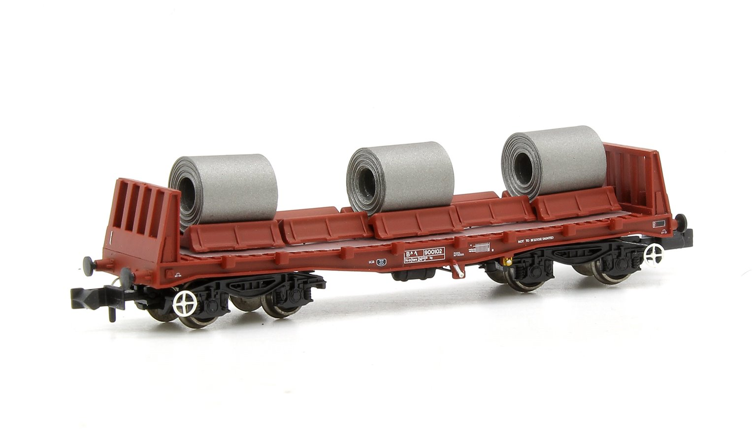 BAA Steel Carrier Wagon BR Brown with Coils