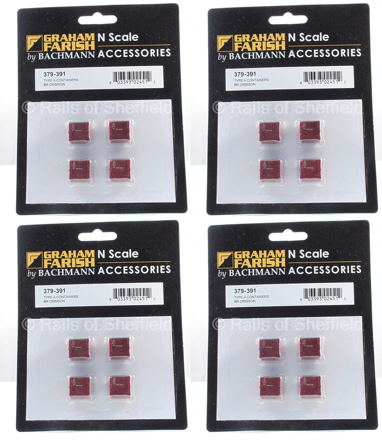 4 Packs of 4 Type A Containers in BR Crimson (16 in total)