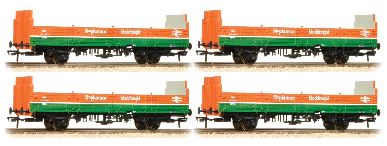 Set of 4 31 Tonne OBA Open BR Plasmor Blockfreight Wagons