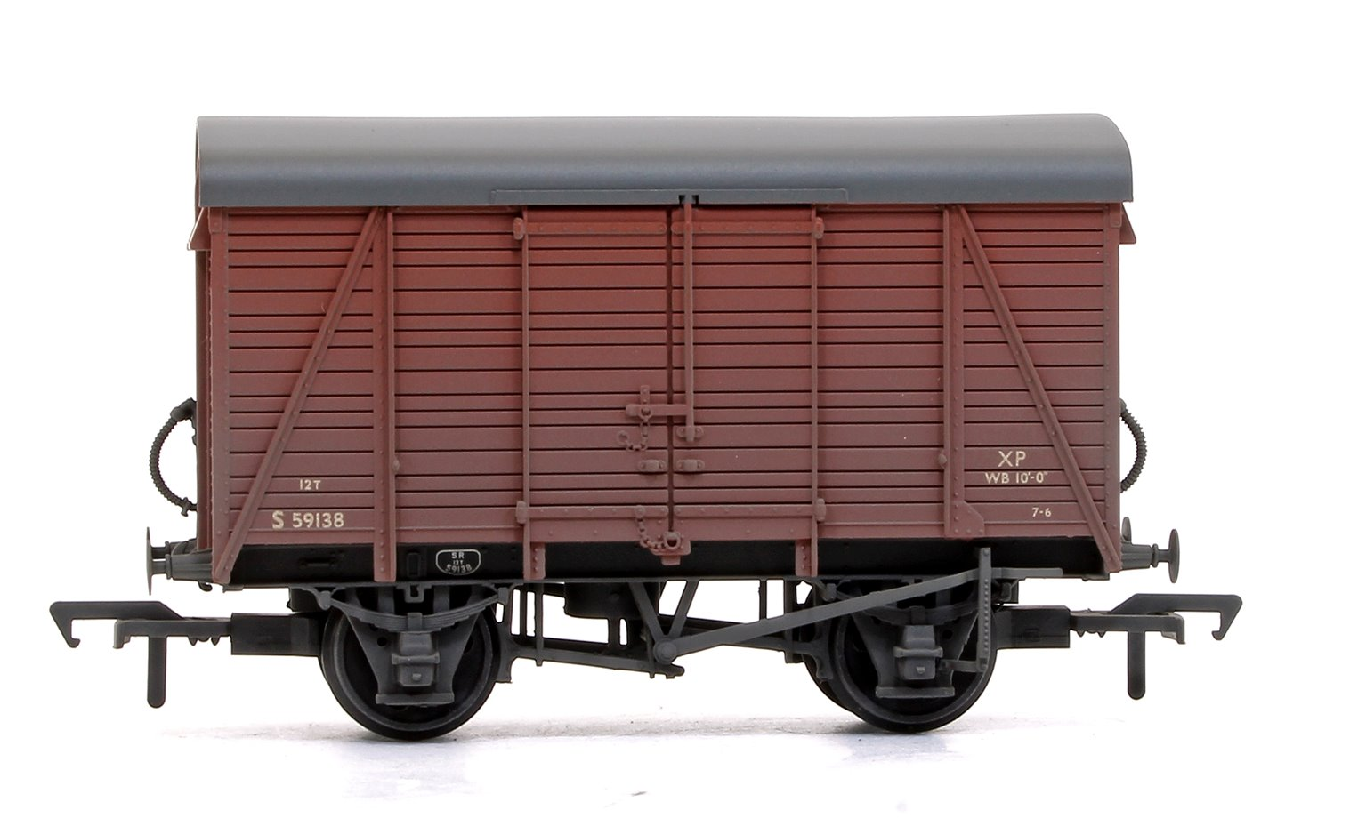 SR 12T 2+2 Planked Ventilated Van BR Bauxite (Early) - Weathered
