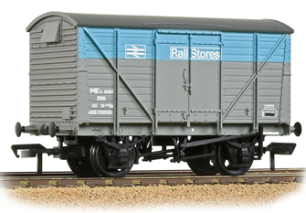 BR 12T Planked  Ventilated Van With Plywood Door BR Departmental Rail Stores