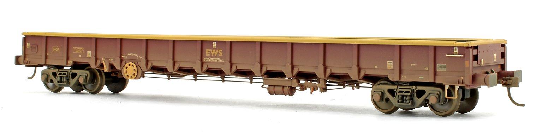 EWS, MOA Low-Sided Bogie Box Wagon with Buffers (Weathered)