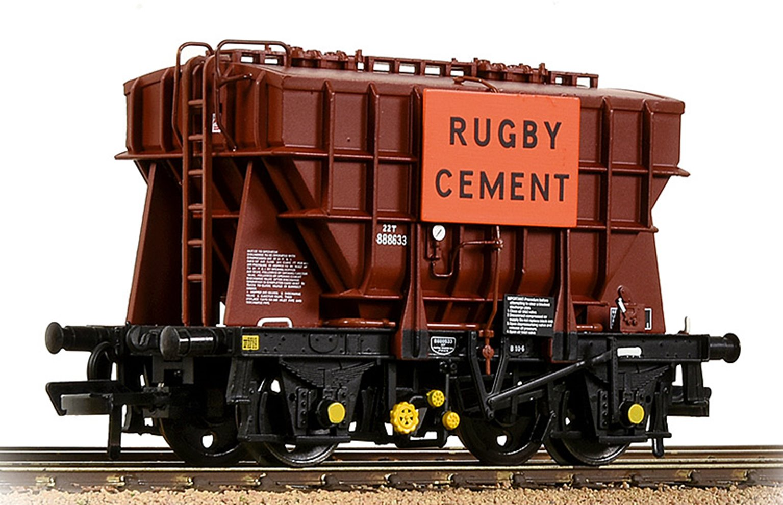 BR 22T 'Presflo' Cement Wagon BR Bauxite (TOPS) 'Rugby Cement'