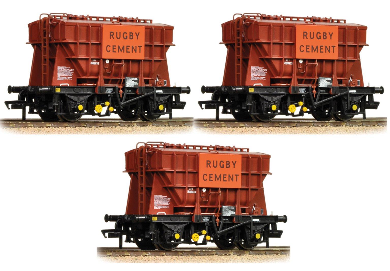 Set of 3 22 Ton Presflo Bulk Powder 'Rugby Cement' Wagons
