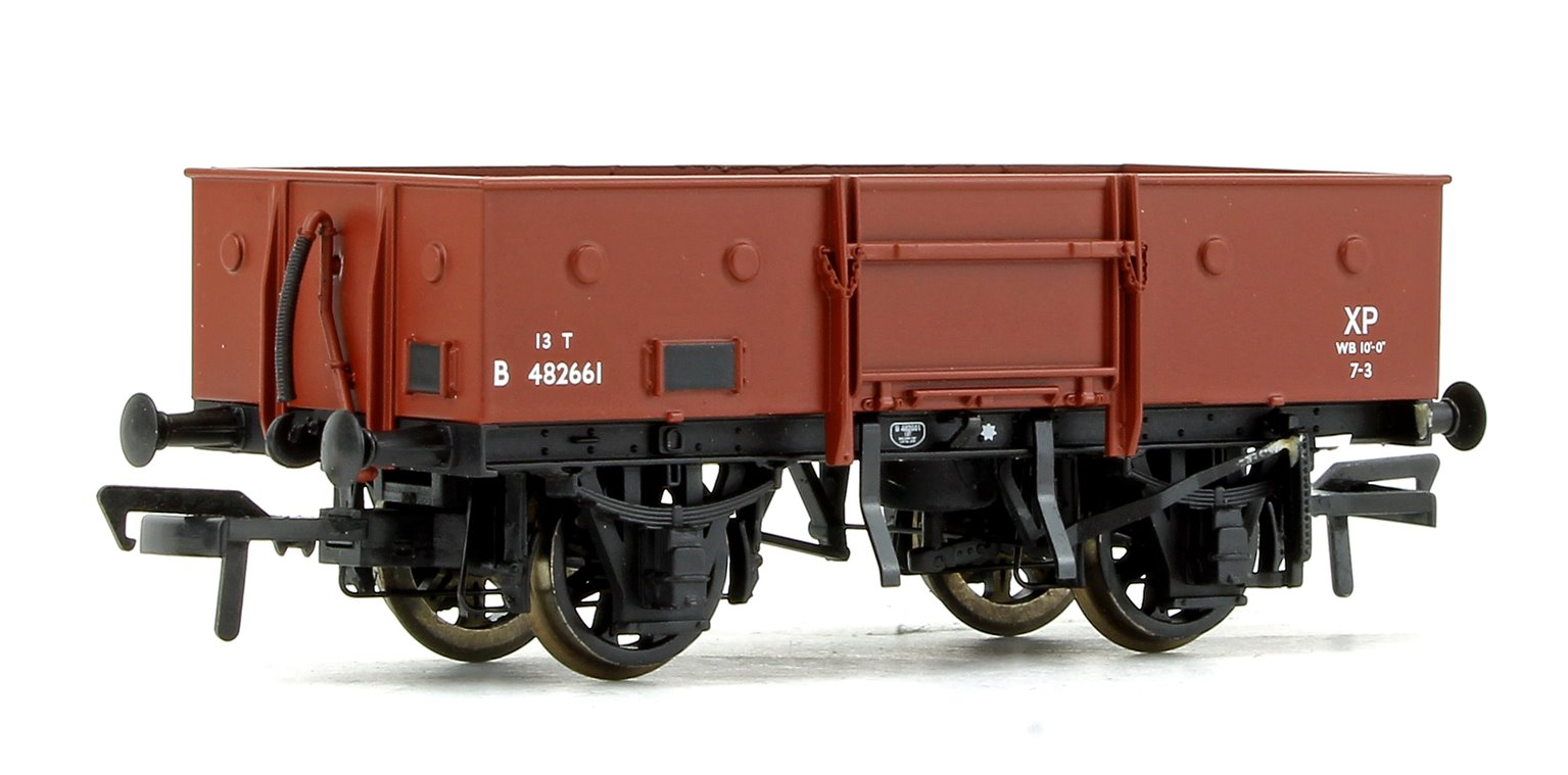 LNER 13T Steel Open Wagon (Chain Pockets) BR Bauxite (Early)