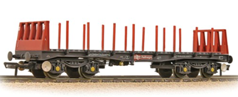 BR BAA Steel Carrier Wagon BR Railfreight Metals Sector - Weathered