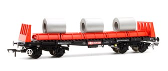 Bachmann BAA Steel Carrier Wagon With Steel Coils BR Railfreight Red & Black