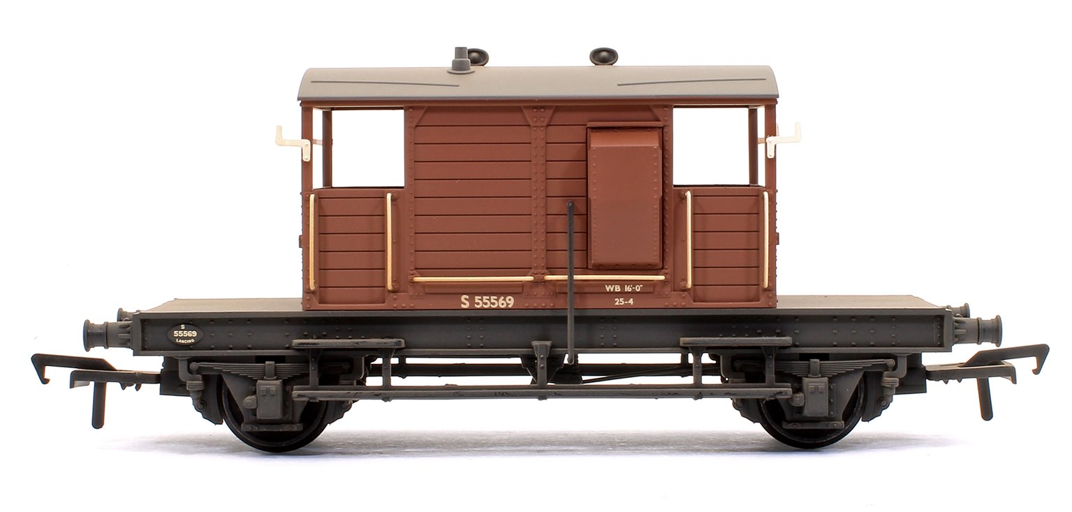 SR 25T 'Pill Box' Brake Van Right-Hand Duckets BR Bauxite (Early) - Weathered