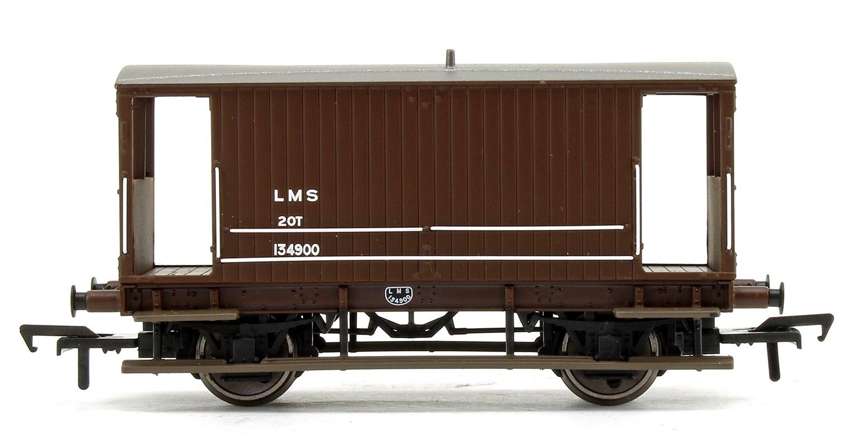 Midland 20T Brake Van LMS Bauxite (without Duckets)