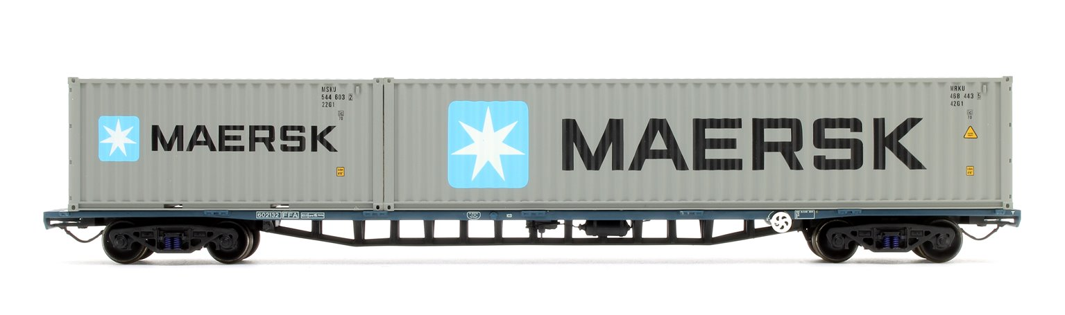 FFA BR Freightliner Inner Container Flat BR Blue with Maritime Containers