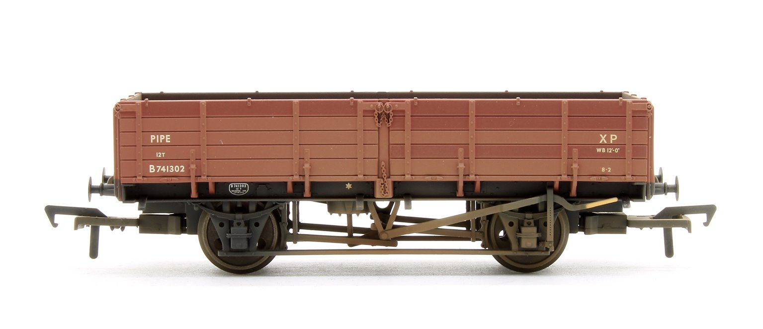 12 Ton Pipe Wagon BR Bauxite (Early) - Weathered