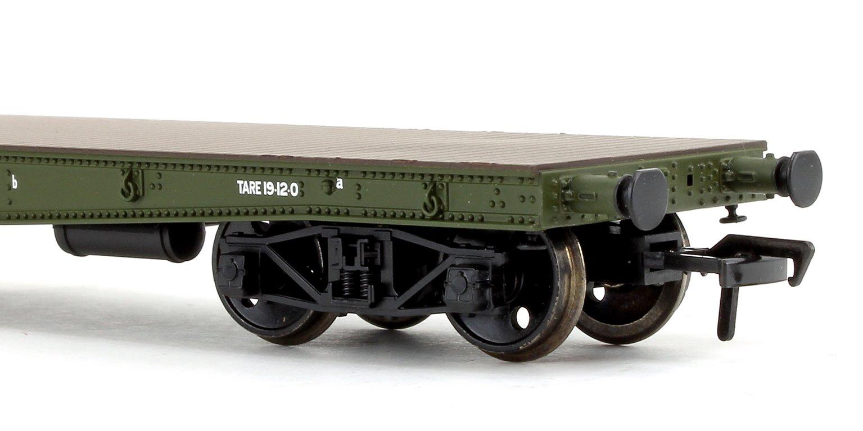 WD 50T 'Warflat' Bogie Wagon WD Khaki Green With Cromwell MKIV Tank