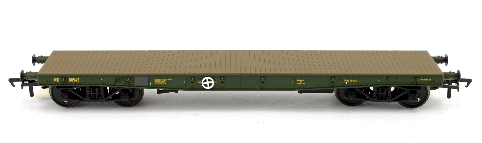 WD 50T 'Warflat' Bogie Wagon WD Bronze Green With Cromwell MKIV Tank