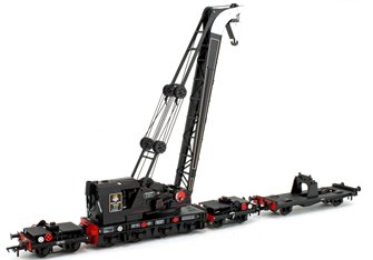 Ransomes & Rapier 45T Steam Breakdown Crane BR Black (Early Emblem) No.122