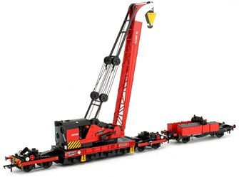 Ransomes & Rapier 45T Steam Breakdown Crane BR Departmental Red S.1097'45