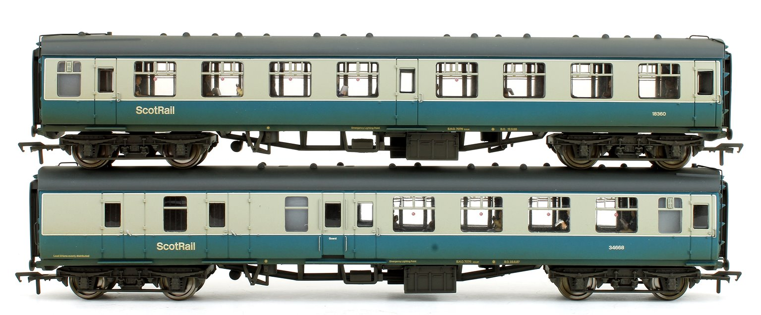MK1 Coach Pack BR Blue & Grey with Scotrail Branding (Weathered Edition)