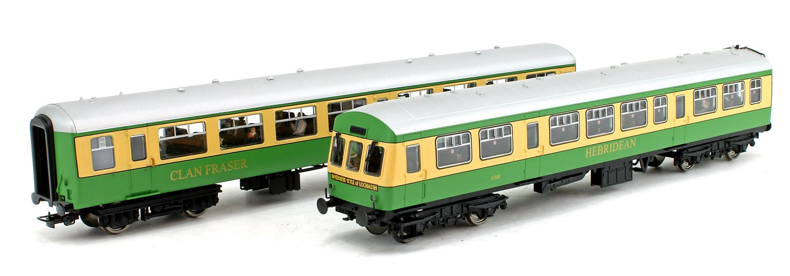 BR MK2A TSO & Class 101 DTCL 'Highlander' Coach Pack (with fitted passengers)