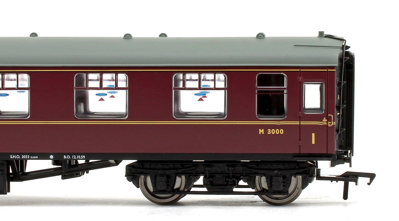 BR Mk1 FO First Open Maroon Passenger Coach No.M3000