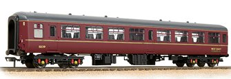 BR Mk2 TSO Tourist Second Open WCRC Maroon