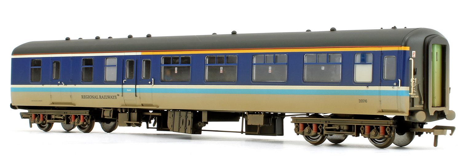 BR MK2A BFK Brake First Corridor BR Regional Railways Coach 35516 Weathered (with fitted passengers)