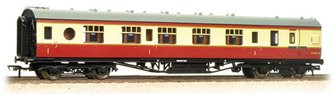 LMS 60 ft Porthole Corridor Brake 1st BR Crimson & Cream
