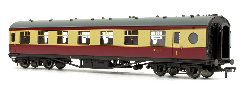 LMS 60ft Porthole Open Vestibule Crimson / Cream Passenger Coach No.M7481M
