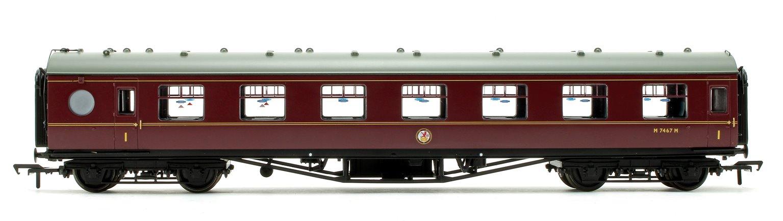 LMS 60 ft Porthole Open Vestibule BR Maroon Coach M7467M
