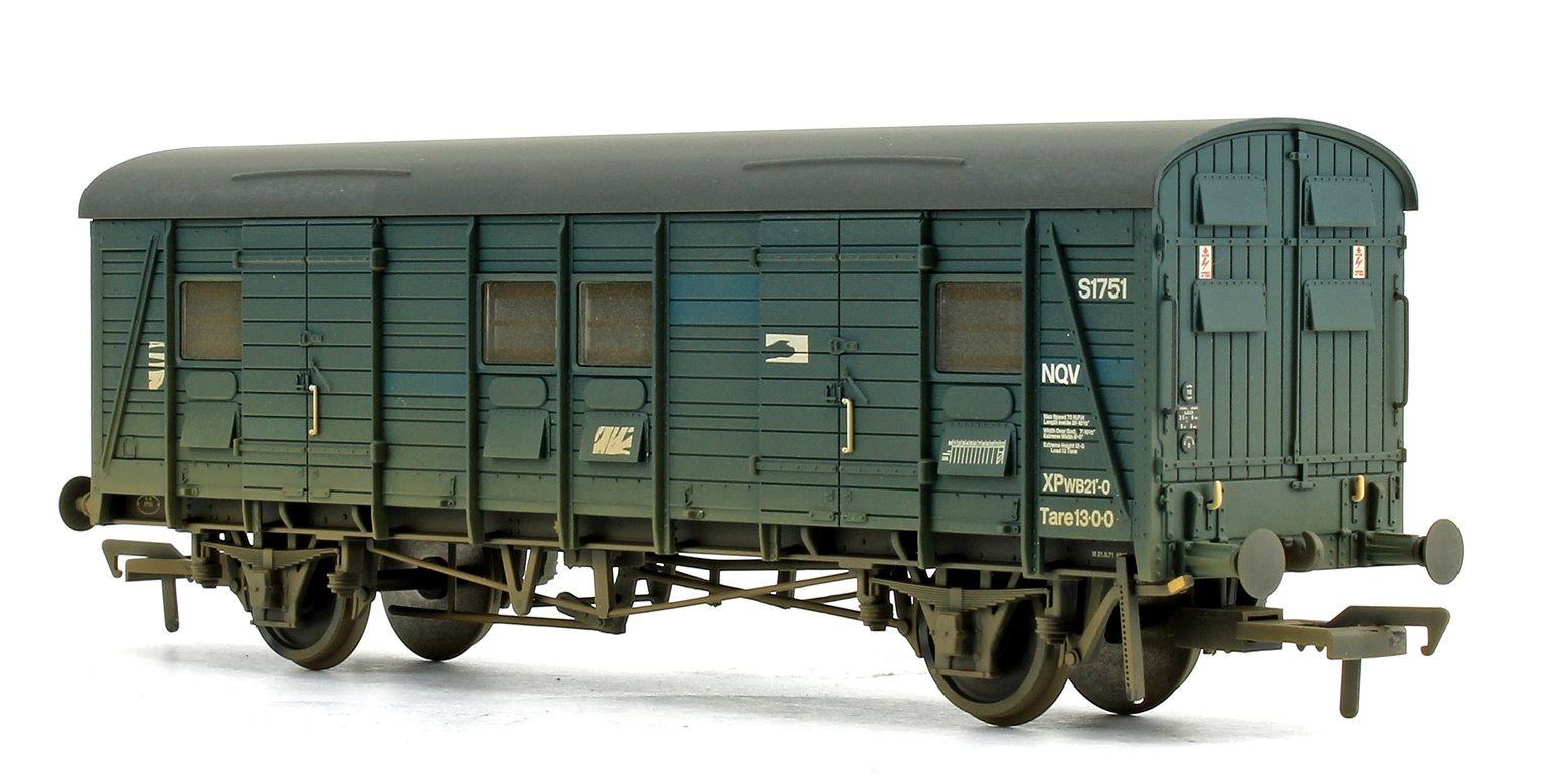 Ex-Southern CCT Covered Carriage Truck BR Blue No.S1751 (Weathered)