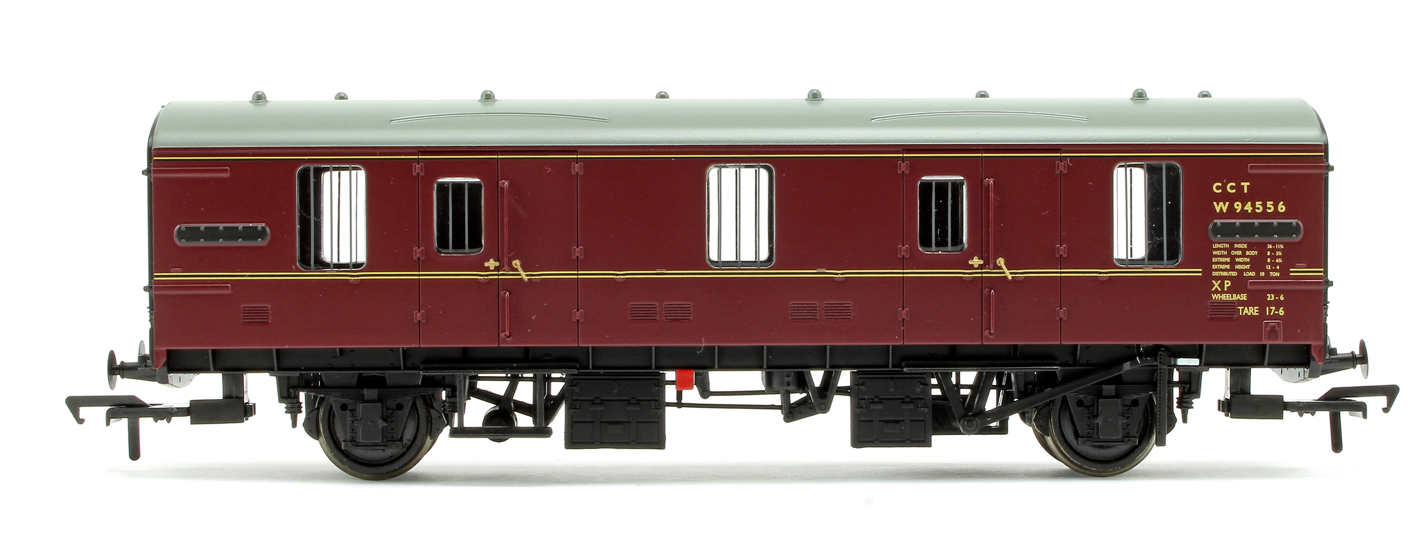 39-550 Bachmann OO Gauge BR Mk1 CCT Covered Carriage Truck BR Maroon