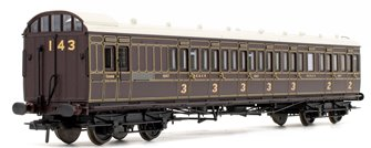 SE&CR 60' Birdcage Brake Composite Lavatory Coach SE&CR Dark Lake No.1157