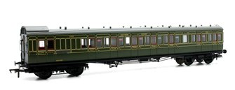 SECR 60ft. Birdcage Brake Third Lavatory Coach SR Olive Green